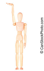 wooden Dummy with empty hand holding