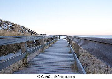 Wooden dune walkway 2