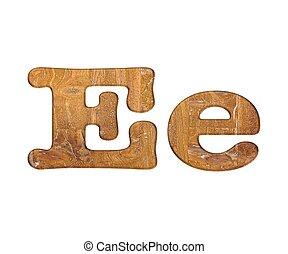 wooden., e, 手紙