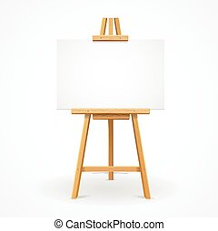 Wooden easel template. Vector