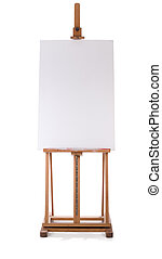 easel with blank canvas - wooden easel with blank canvas...