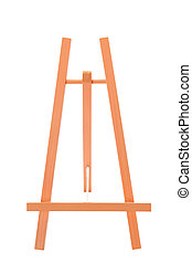 wooden easel - Wooden easel isolated on a white background