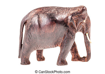 Wooden elephant sculpture