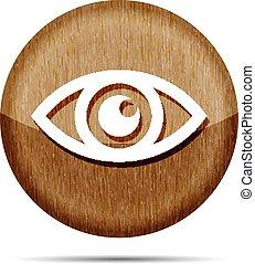 wooden Eye icon - vector illustration