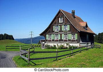 Wooden farm house
