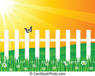 wooden fence and butterfly 2