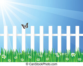 wooden fence and butterfly 3