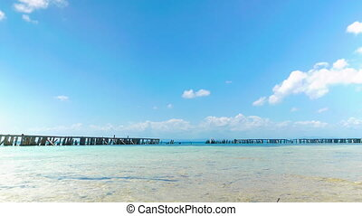 Wooden Fence Around Coral Island - Coral Island in the...