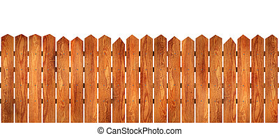 Wooden fence - Beautiful wooden fence with natural wood ...