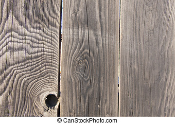 Wooden fence close-up