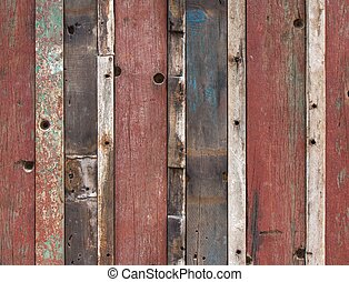 Wooden fence colorful background