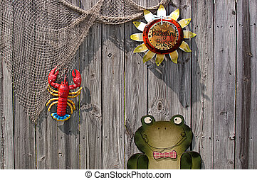 Wooden Fence Decorated for Summer