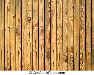 Wooden fence - Dense wooden fence