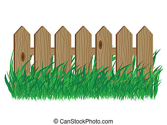 Wooden fence - Wooden fence on a white background