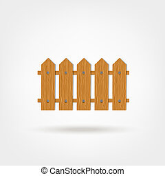 Wooden fence for your design