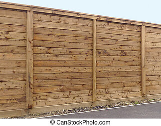 Wooden fence panel - Wooden garden fence panels close up