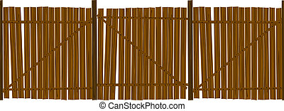 Wooden fence pattern