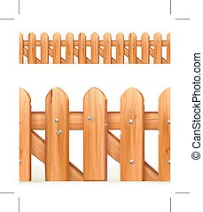 Wooden fence seamless border