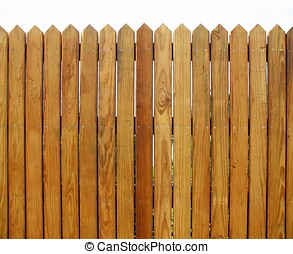 Wooden Fence - -- with slats that show the natural wood...