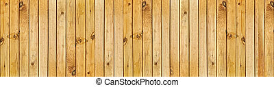 wooden fence - panoramic image of the beige wooden fence