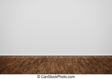 wooden floor - An image of a nice room with a wall for your ...