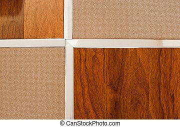 Wooden floor and tile