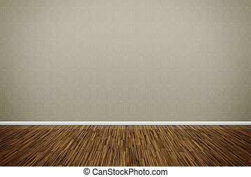 wooden floor - An image of a nice room with a wall for your...