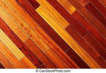 Texture background of exotic wooden floor
