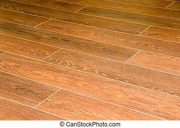 Wooden flooring - A closeup of wooden floowing