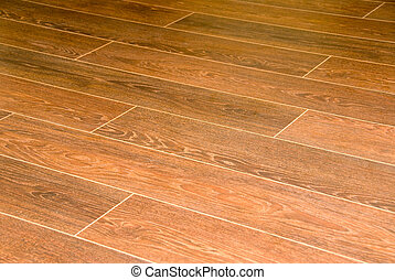 Wooden flooring - A closeup of wooden floowing