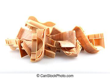 Wooden flooring laminate.