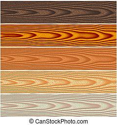 Wooden floorings set