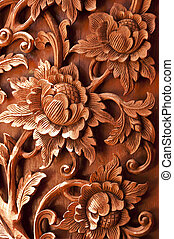 Wooden Flower carving