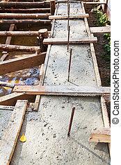 concrete foundation of house