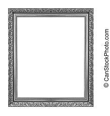 black antique frame isolated on white background.