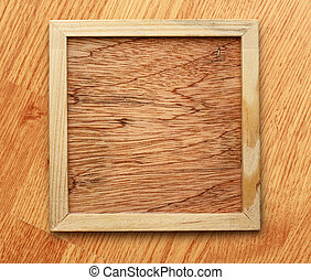 Blank new square wooden frame as background