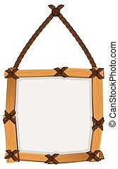 Wooden frame hanging on wall