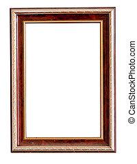 wooden frame isolate on white backg