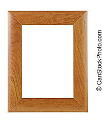 Wooden frame isolated on a white background