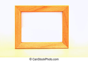 Wooden frame - Oak frame on white background