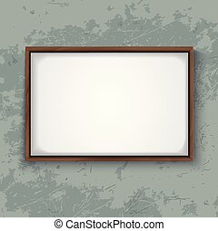 Wooden Frame on Concrete Wall