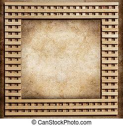 wooden frame on grunge background