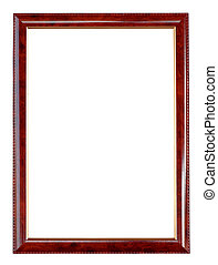 wooden frame on white background