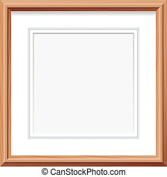Wooden Frame Square Picture