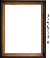 The wooden frame empty inside with delicate ornament