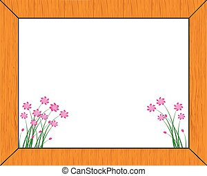 wooden frame-vector