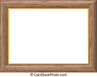 wooden frame with a gold rim