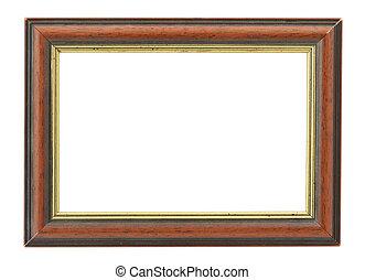 wooden frame with an inner gilded rim