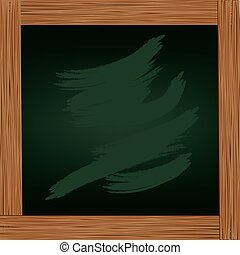 Wooden frame with board icon design