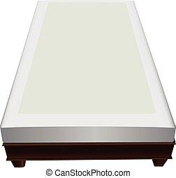 Wooden frame with mattress